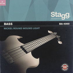 Stagg Nickel Round Wound Electric Bass Strings - Light, 40-100