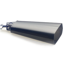Stagg Rock Cowbell for Drum Set - 7-1/2, Black
