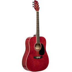 Stagg SA20D Dreadnought Acoustic Guitar - Red