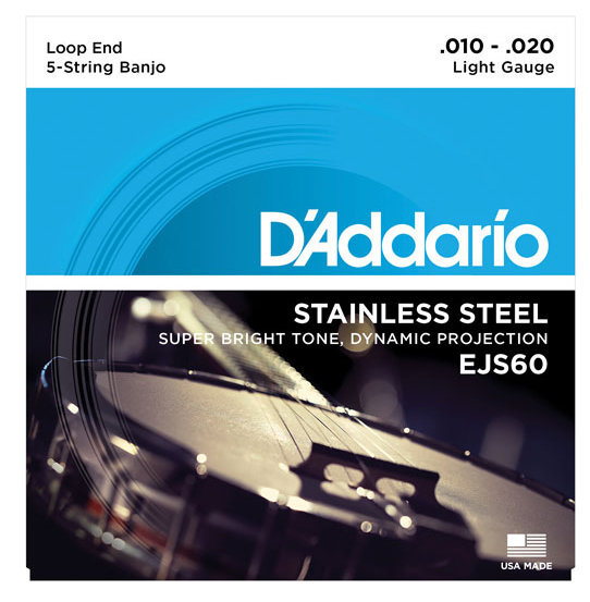 View larger image of Stainless Steel Banjo Strings - 5 String, Light, 10-20