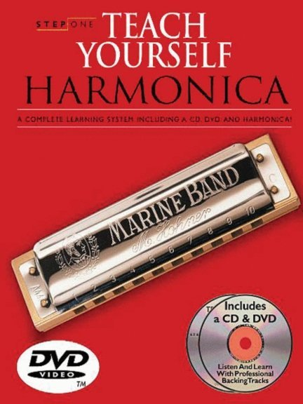 View larger image of Step One: Teach Yourself Harmonica (Book/CD/DVD)