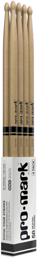 View larger image of ProMark Classic Forward Drumsticks - 5A, Oval, 4 Pack
