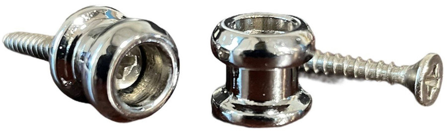 View larger image of AllParts Economy Strap Buttons - Chrome