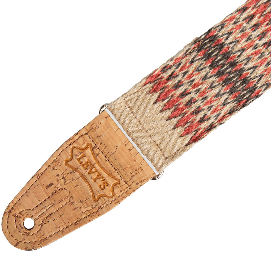 View larger image of Levy's MH8P-006 Print Series Guitar Strap - Towers Hemp Natural