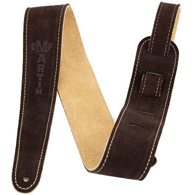 View larger image of Martin Suede Guitar Strap - Brown