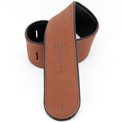 Martin Deluxe Leather Guitar Strap - Brown
