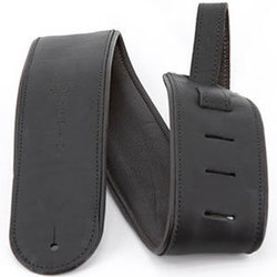 Martin Rolled Leather Guitar Strap - Black