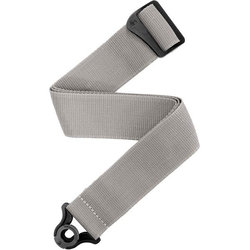 Planet Waves Auto Lock Polypro Guitar Strap - Silver