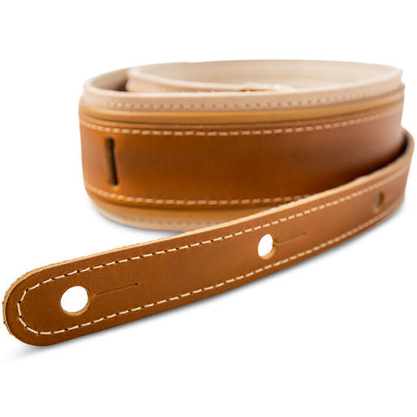 """View larger image of Taylor Reflections Leather Guitar Strap - Palomino, 2-1/2"""""""