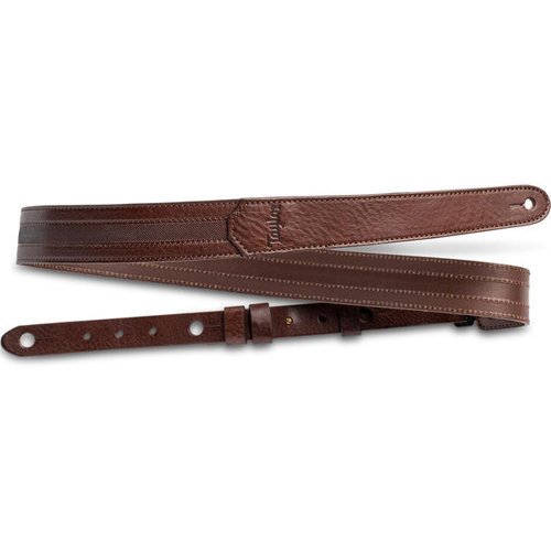 """View larger image of Taylor Slim Leather Guitar Strap - 1-1/2"""", Chocolate Brown"""