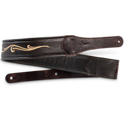 """Taylor Spring Vine Leather Guitar Strap - 2-1/2"""", Chocolate Brown"""