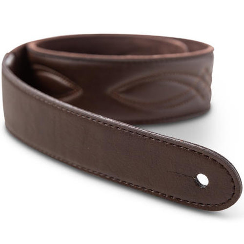 """View larger image of Taylor Vegan Leather Guitar Strap - 2"""", Chocolate Brown"""
