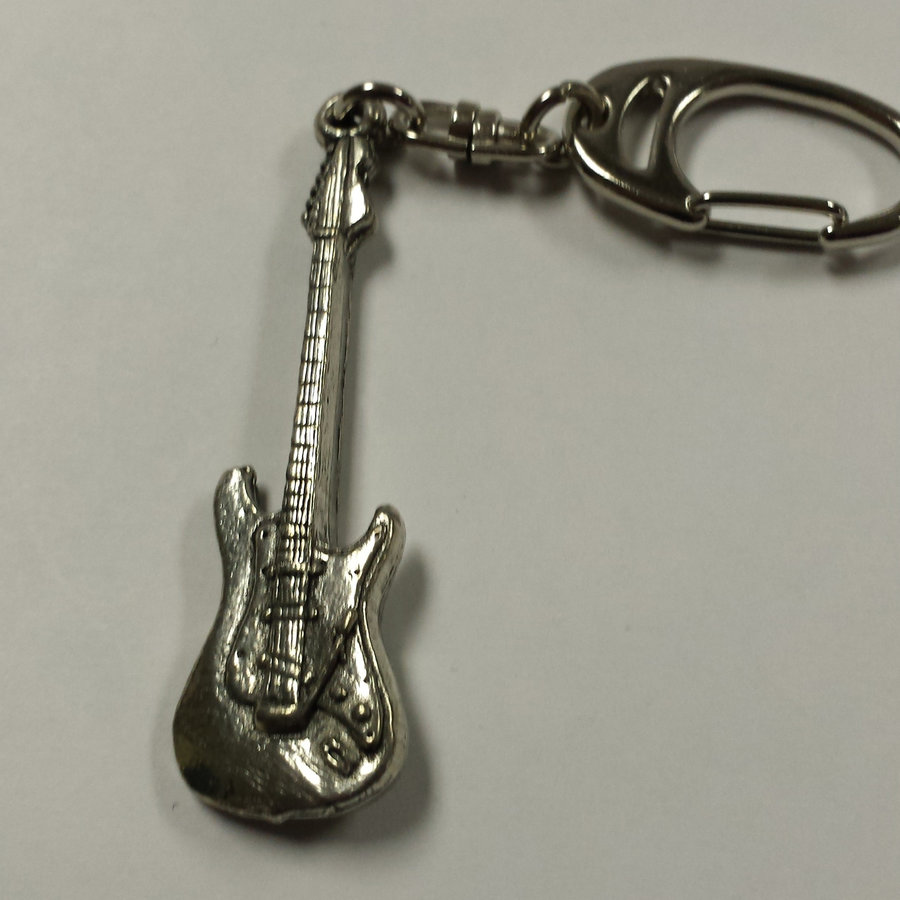 View larger image of Stratocaster Guitar Keychain - Pewter