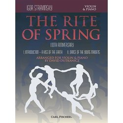 Stravinsky Rite of Spring Sheet Music for Violin and Piano