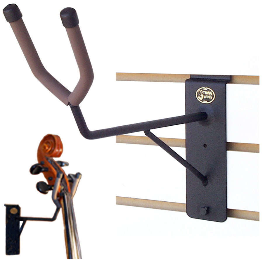 View larger image of String Swing Upright Bass Neck Support / Cello Hanger - Flat Wall