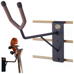 String Swing Upright Bass Neck Support / Cello Hanger - Flat Wall