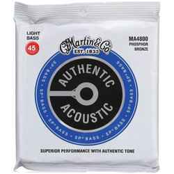 Martin Authentic Superior Performance 92/8 Bass Guitar Strings - Light