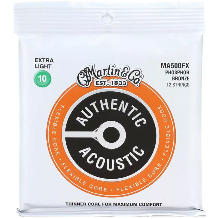View larger image of Martin Authentic Flexible Core 92/8 12-String Acoustic Guitar Strings - Phosphor Bronze, Custom Light