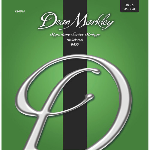 View larger image of Dean Markley Signature Series Nickel Steel 5-String Bass Strings - 45-128