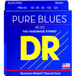 DR Pure Blues Quantum Bass Strings - Nickel, 45-125