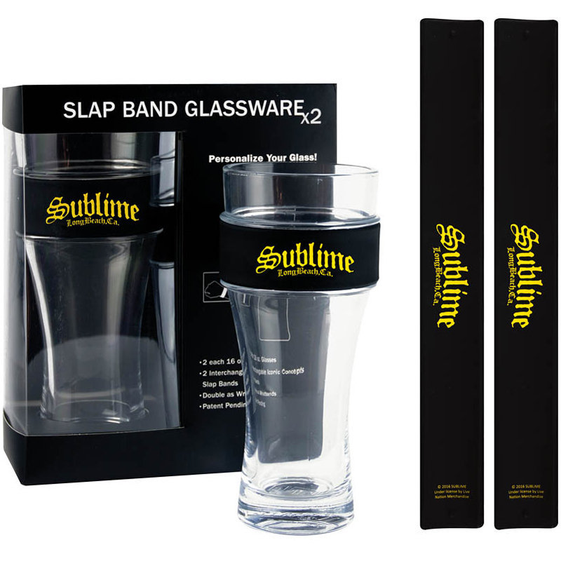 View larger image of Sublime Slap Band Pint Glass Set - 2 Pack