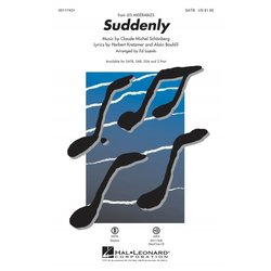 Suddenly (from Les Misrables - The Movie), SATB Parts