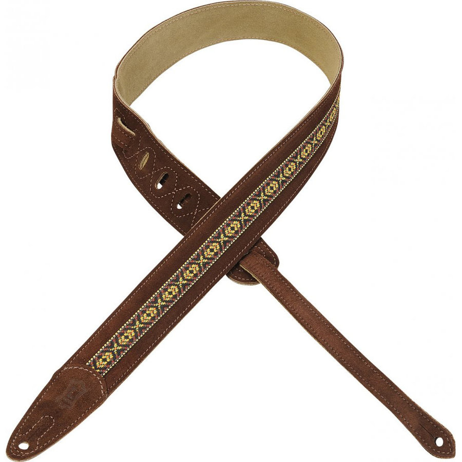View larger image of Suede Guitar Strap - 1 1/2, Brown