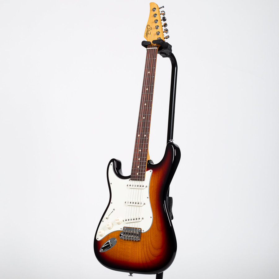 View larger image of Suhr Classic S Electric Guitar - 3 Tone Burst, Left