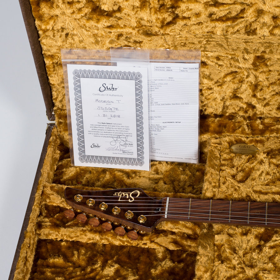 View larger image of Suhr Modern T Electric Guitar - Koa, Natural
