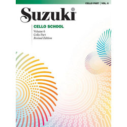 Suzuki Cello School Vol.6 (International Edition) - Cello Part