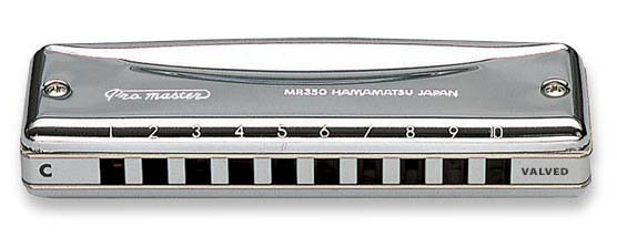 View larger image of Suzuki MR350V Valved ProMaster Harmonica - F