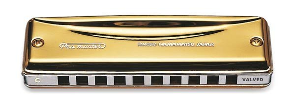 View larger image of Suzuki Promaster Gold Valved Harmonica - Key A