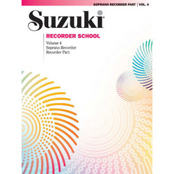 Suzuki Recorder School (Soprano Recorder) Recorder Part, Volume 4