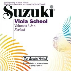 Suzuki Viola School - Volume 3 & 4 - Viola Performance CD - International Edition