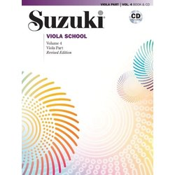 Suzuki Viola School - Volume 4 - Viola Part & CD - International Edition