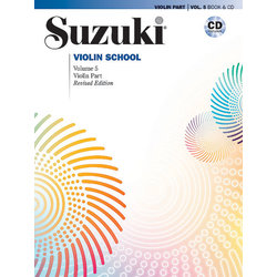 Suzuki Violin School - Volume 5 - Book & CD - International Edition