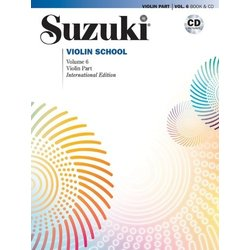 Suzuki Violin School - Volume 6 - Book & CD - International Edition