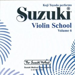 Suzuki Violin School - Volume 6 - Performance/Accompaniment CD - International Edition