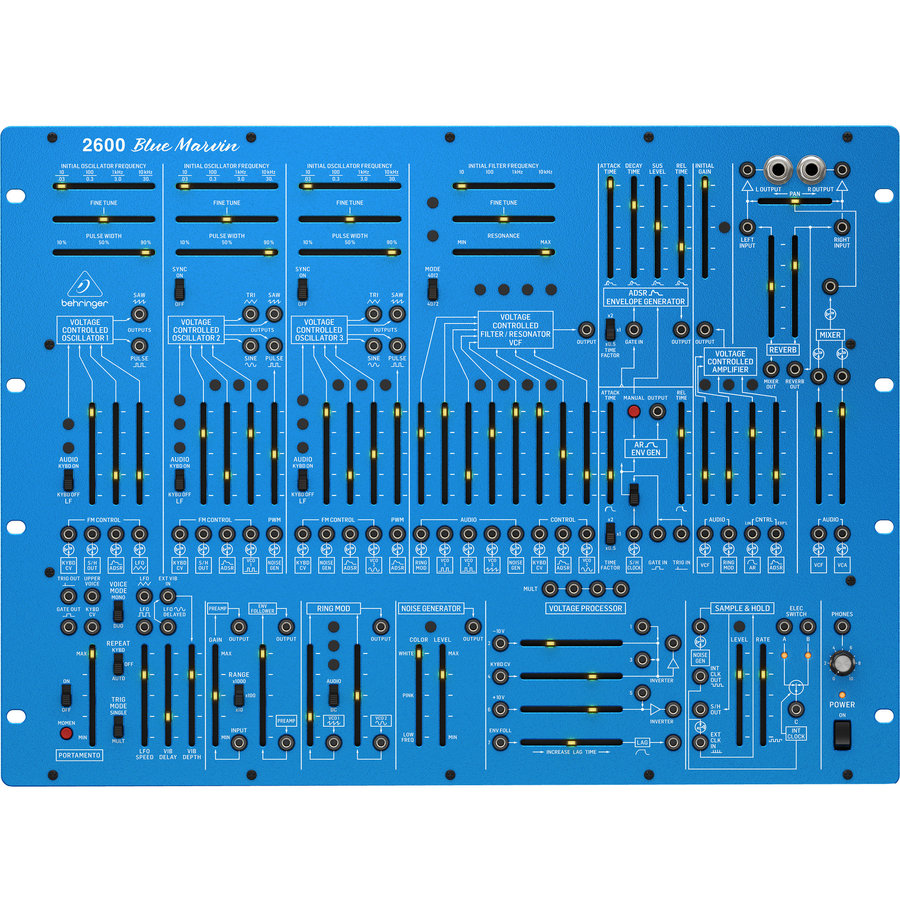 View larger image of Behringer 2600 Blue Marvin Limited-Edition Analog Semi-Modular Synthesizer