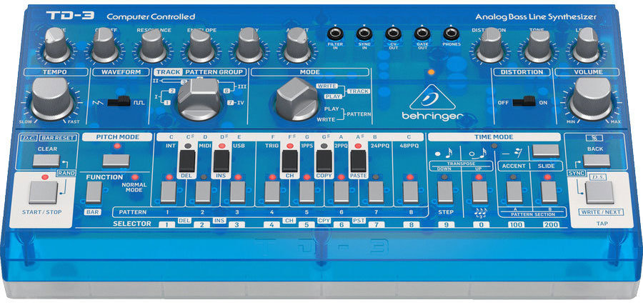 View larger image of Behringer TD-3-BB Analog Bass Line Synthesizer - Baby Blue