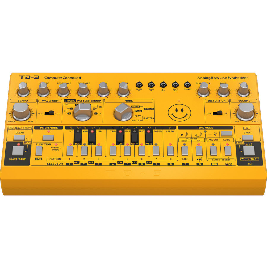 View larger image of Behringer TD-3-AM Analog Bass Line Synthesizer - Yellow