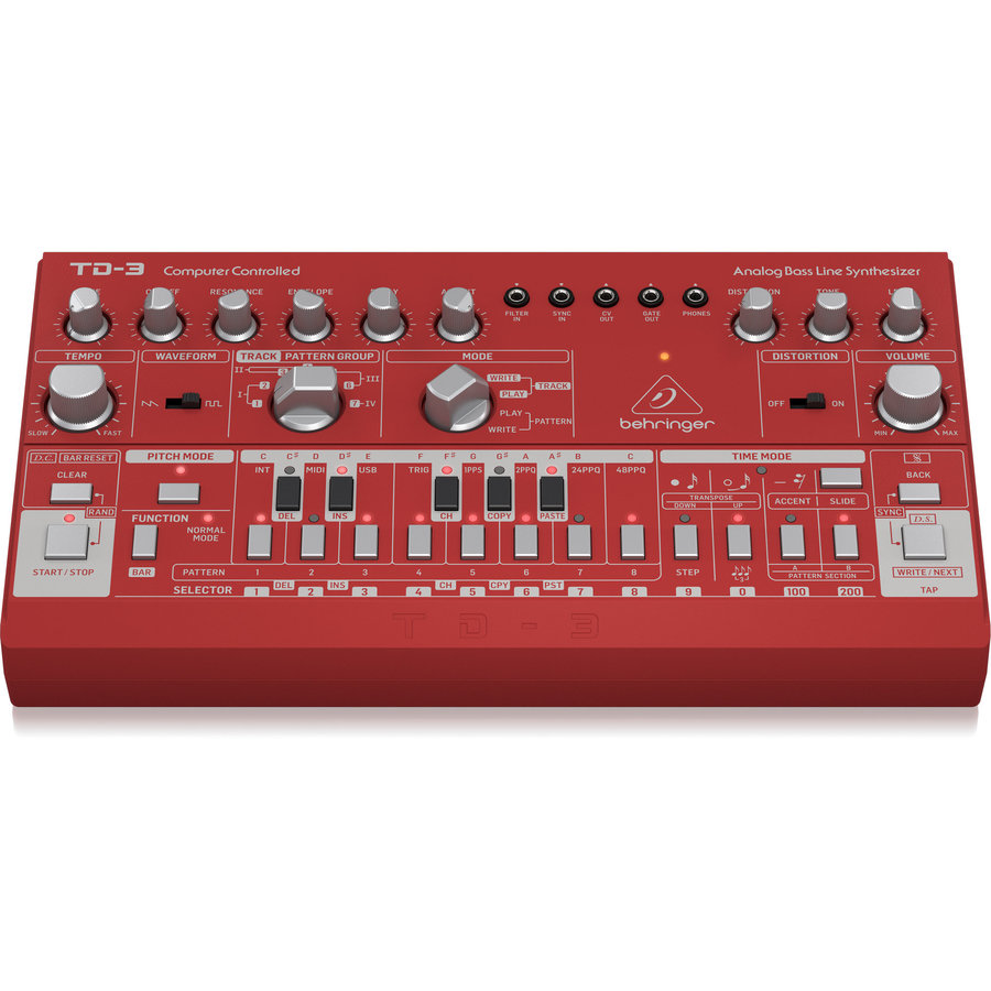 View larger image of Behringer TD-3-RD Analog Bass Line Synthesizer - Red