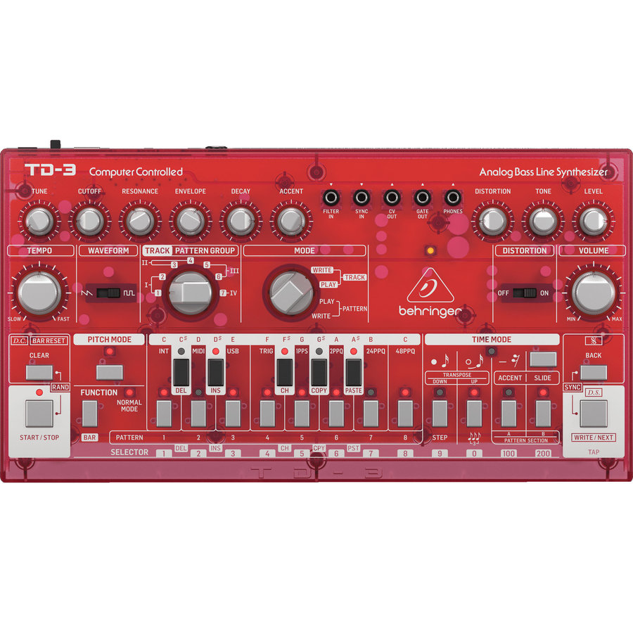 View larger image of Behringer TD-3-SB Analog Bass Line Synthesizer - Strawberry