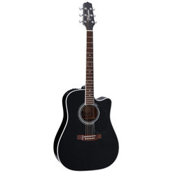 Takamine EF341SC Dreadnought Acoustic-Electric Guitar - Gloss Black