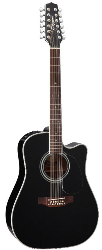 View larger image of Takamine EF381SC 12-String Dreadnought Acoustic - Black