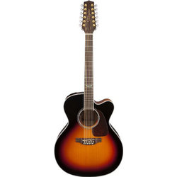 Takamine GJ72CE-12BSB Jumbo Acoustic - Brown Sunburst