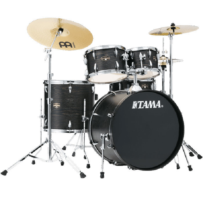 View larger image of Tama Imperialstar 5-Piece Drum Kit - 20/14SD/14FT/12/10, Hardware, Cymbals, Throne, Black Oak Wrap