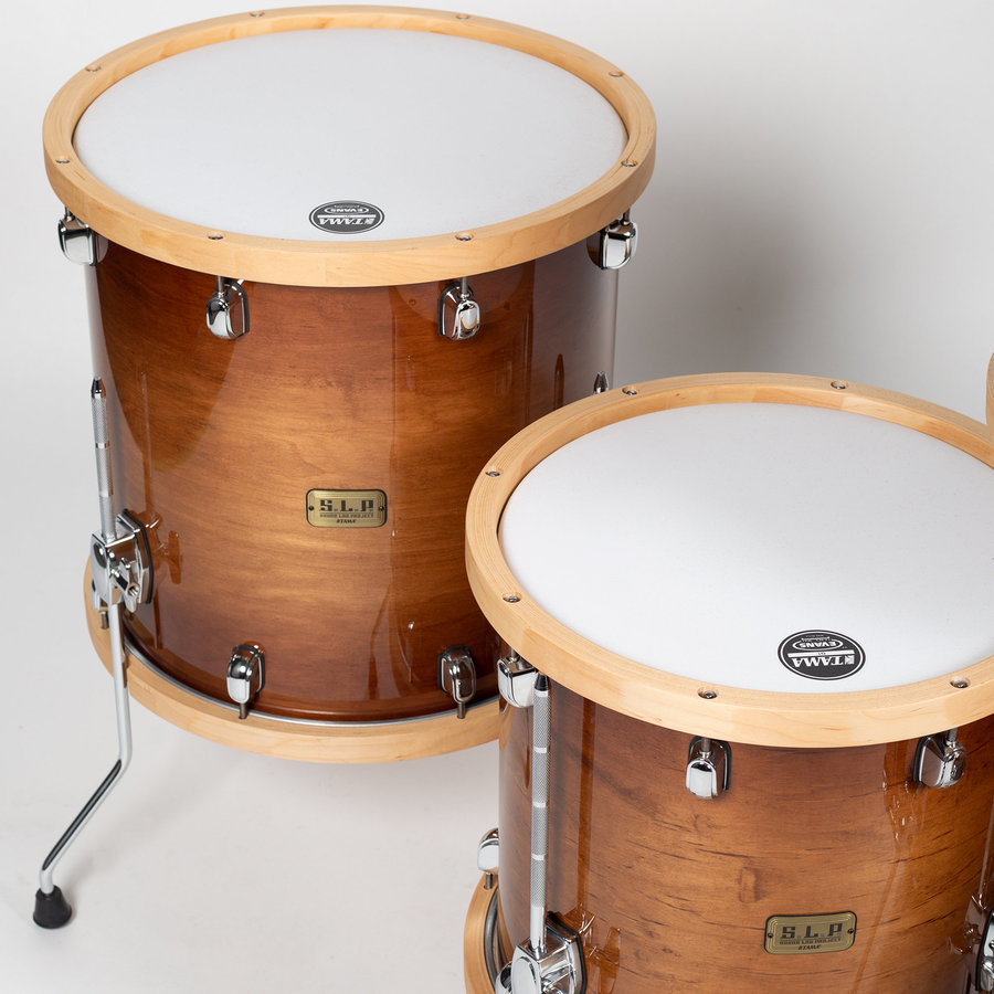 View larger image of Tama S.L.P. Studio Maple 5-Piece Shell Pack - 22/16 FT/14FT/12/10, Gloss Sienna