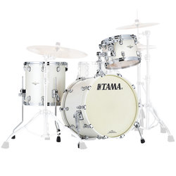 Tama Starclassic Maple 3-Piece Shell Pack - 20/14FT/12, Satin Pearl White