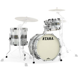 Tama Starclassic Maple 3-Piece Shell Pack - 20/14FT/12, Silver Snow Racing Stripe